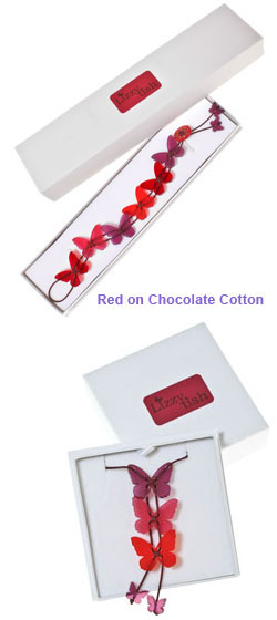 Red on Chocolate Cotton